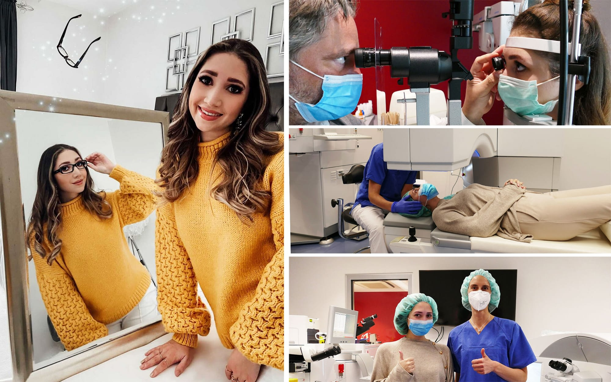 XeniaKaren bei ihrer Augenlaser-Behandlung bei EuroEyes